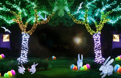 custom design outdoor christmas lights led bunny for