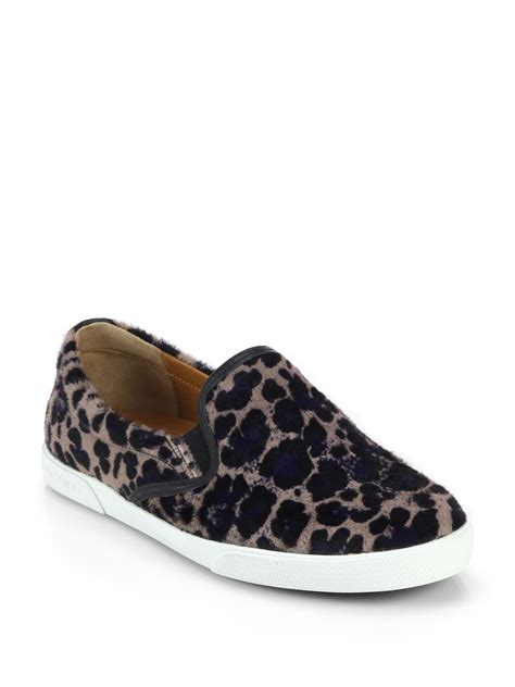 leopard print sneakers for lyst jimmy choo demi leopard print calf hair sneakers