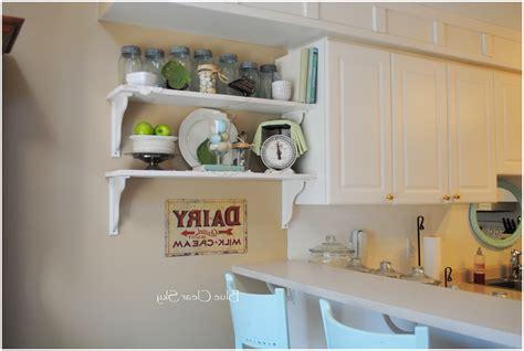 Kitchen Cabinet Shelf Decor Kitchen Diy Wall Shelves For