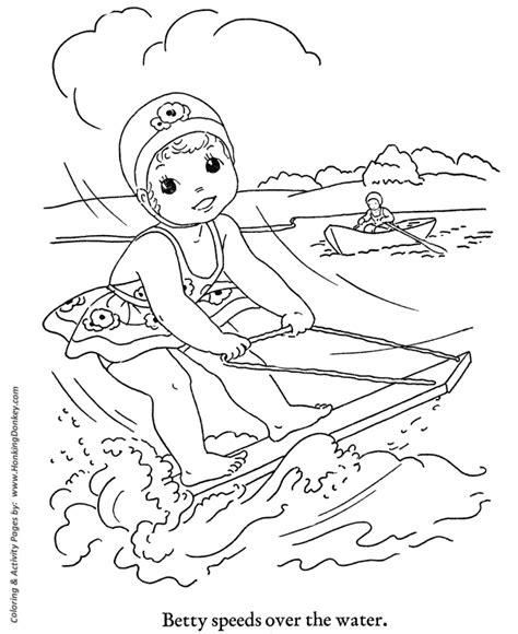 kids summer fun things to do coloring kids water ski