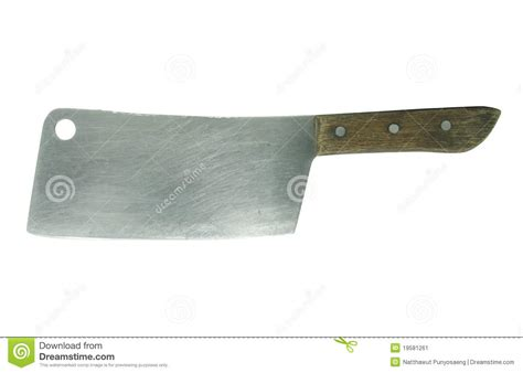 a large kitchen knife on a white stock image image 19581261