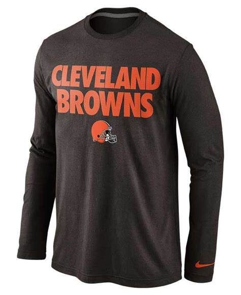 Bajukaost Shirt Nike Slevee 1 lyst nike s sleeve cleveland browns foundation t shirt in blue for