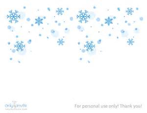 Snowflakes free winter wedding invitation template
