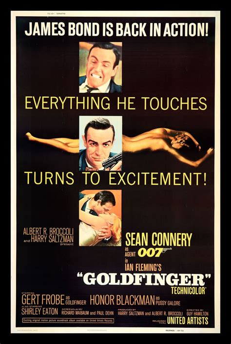 goldfinger james bond 007 goldfinger quot everything he touches turns to excitement