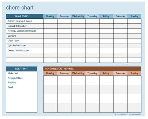 5 free sle household chore list templates openoffice