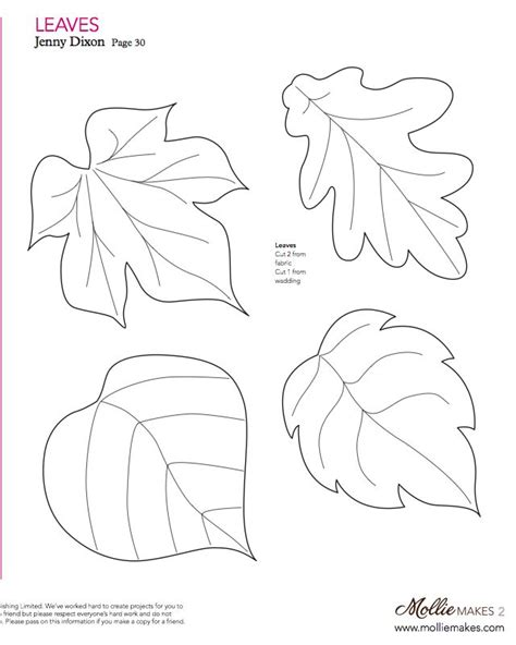 felt leaf template fall craft printable leaves draw a tree trunk on paper
