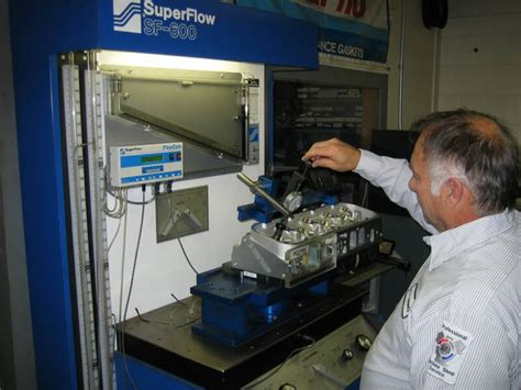 flow bench testing super flow cylinder head flow testing head porting ma