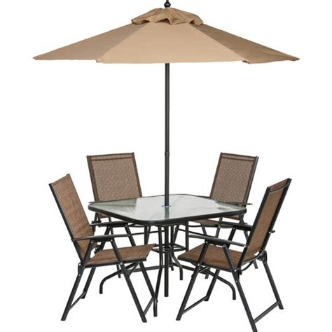 folding patio furniture set academy mosaic 6 folding patio set