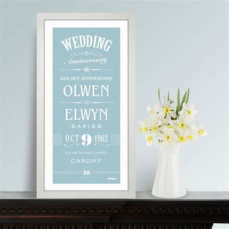 Wedding Gift Print by Personalised Wedding Anniversary Print By Wallspice