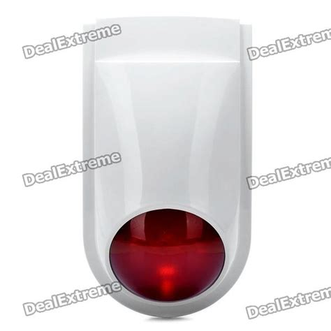 home security strobe light 112db alarm siren with strobe light for home