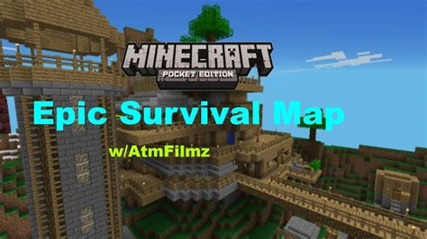 best survival map minecraft minecraft pe quot map review quot awesome survival world ep 4 w