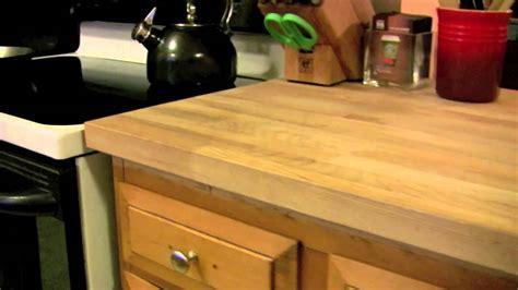 ikea diy kitchen countertop numerar cheap butcher block hardwood  great  youtube