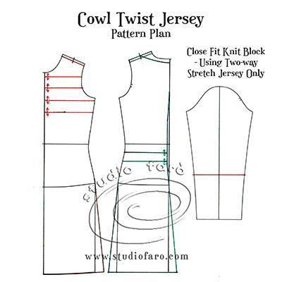 jersey twist pattern pattern fundamentals cowl twist jersey