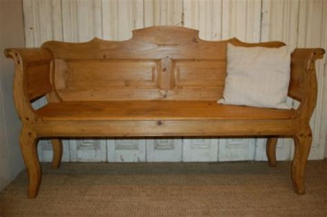 settle bench antique pine country settle bench pew 259687