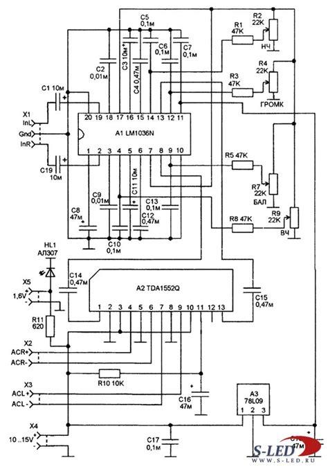 An7106k схема усилителя для плеера на принципиальные схемы