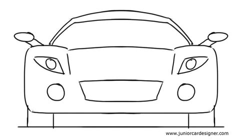 easy car drawing tutorial for sports car front view