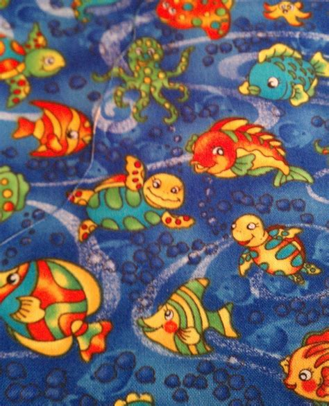 Fishing Quilt Fabric by Fish Quilt