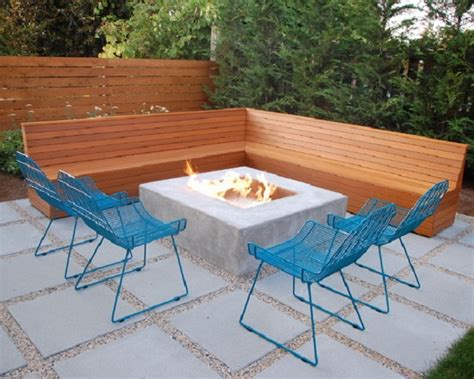 modern l shaped wooden outdoor patio bench patio design