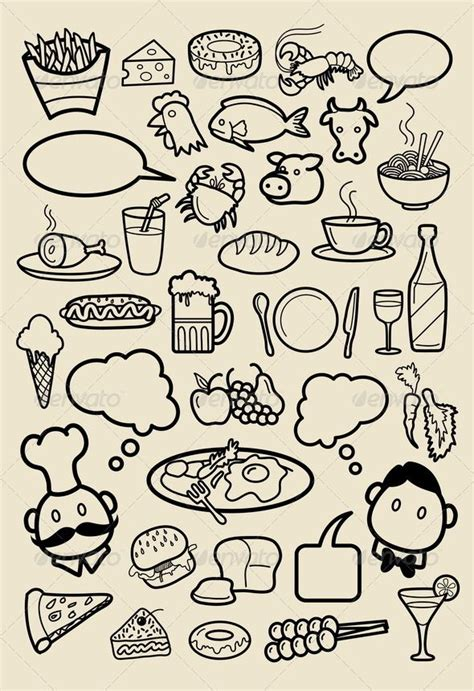 design icon in sketch restaurant icon sketches beer food restaurant and crabs