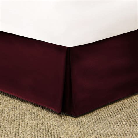 bed skirt walmart mainstays microfiber bed skirt red burgundy bedding walmart com