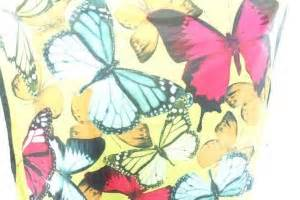 bright yellow butterfly garden theme polyester scarf shawl 3 95 wholesale clothing fashion