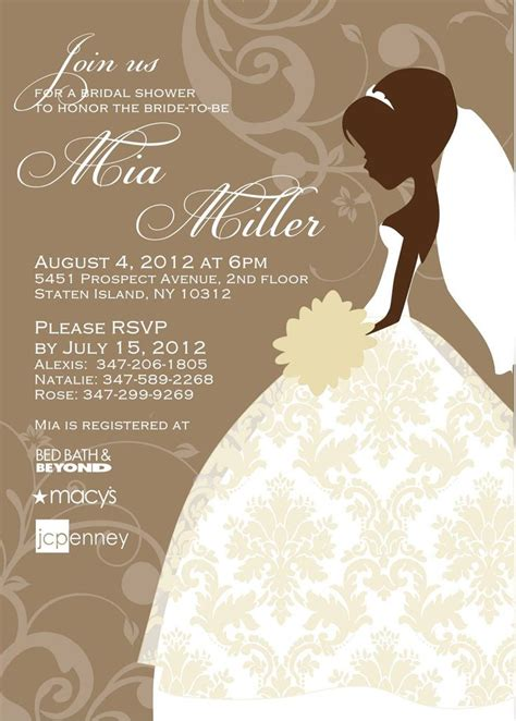 Bridal Shower Invitation Cards Templates bridal shower invite templates free bridal shower
