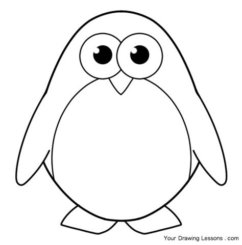 P For Penguin Coloring Page by Baby Animal Coloring Pages Dragoart Search