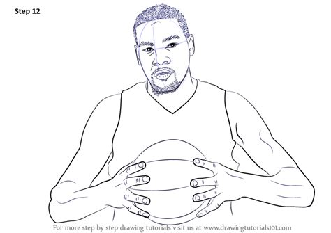 Curry 4 Sketches by Kevin Durant Shooting Free Coloring Pages