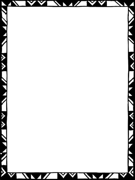 cornici tribali black tribal certificate simple outline frame