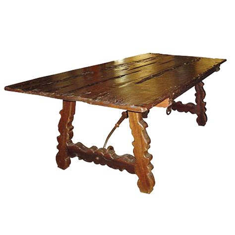 rustic wood country dining table carved legs and