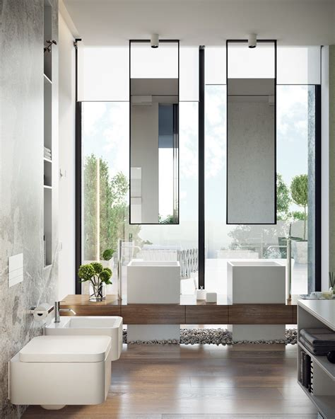 Badezimmer Idee 4447 by A Modern Residence With Simple Details Outside Of Moscow