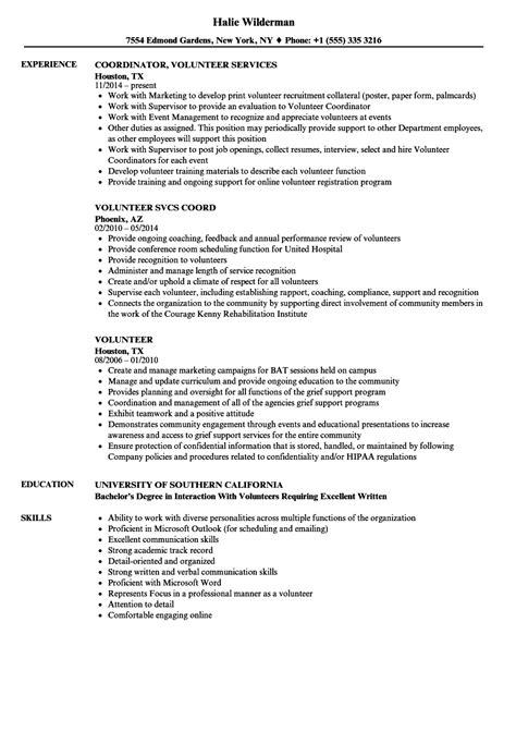 how describe volunteer work on resume templates animal shelter