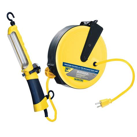 retractable work light home depot ryobi garage retractable cord reel accessory gdm330 the