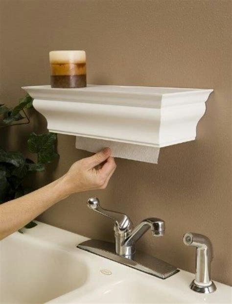 over the sink shelf with paper towel holder perfect paper towel holder diy furniture home