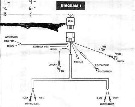 standard hid driving light wiring diagram