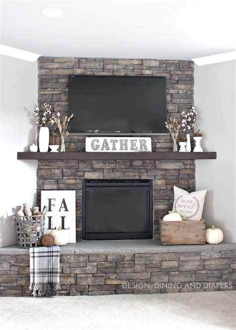 that home site decorating rustic fall mantel using neutrals and texture a interior