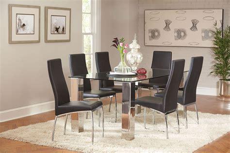 chrome dining room sets bellini chrome dining room set 107111 coaster furniture