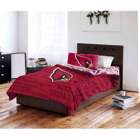 cardinals comforter set nfl arizona cardinals bedding set walmart com