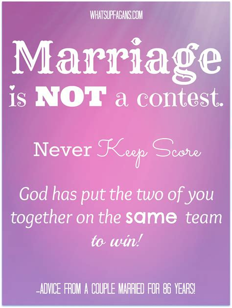 marriage is not a competition or a contest