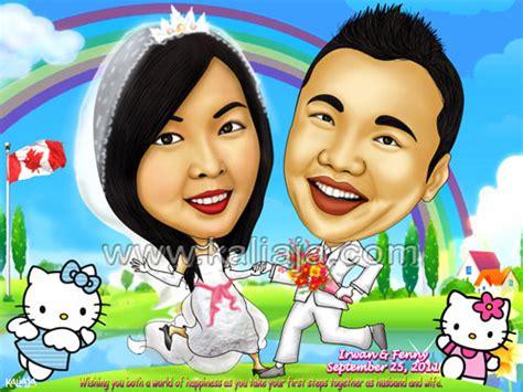 Hadiah Pernikahan Ilustrasi Pasangan Digital jasa gambar karikatur digital