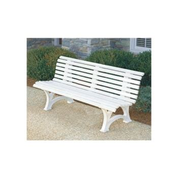 white plastic bench florida bench white plastic resin hd supply