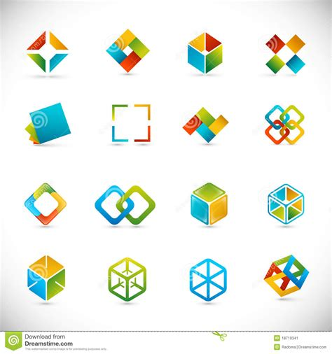 design elements by ultimate symbol design elements cubes stock image image 18710341