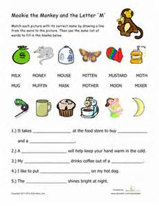 words that begin with quot m quot worksheet education
