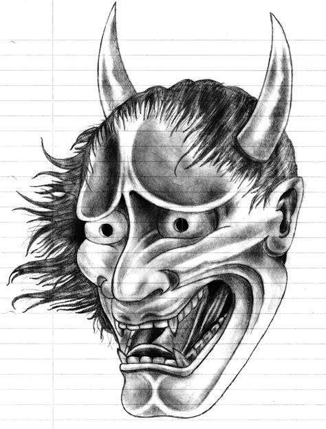hannya mask tattoo drawing hannya oni mask by patsurikku on deviantart
