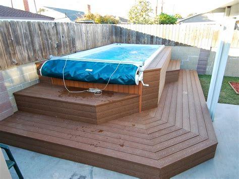 backyard endless pools swim spa built   raised deck