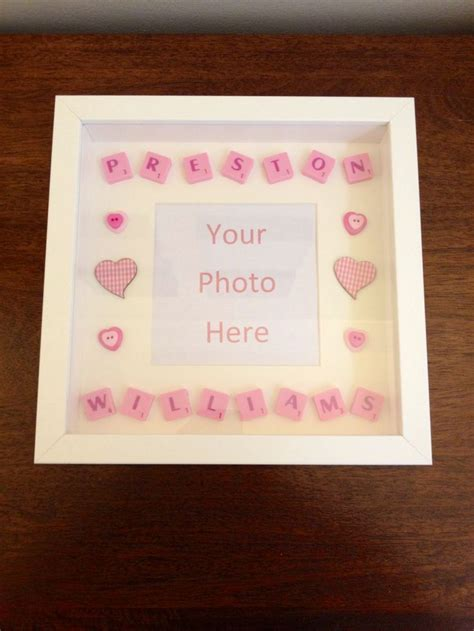 scrabble baby shower new baby scrabble word picture frame diy