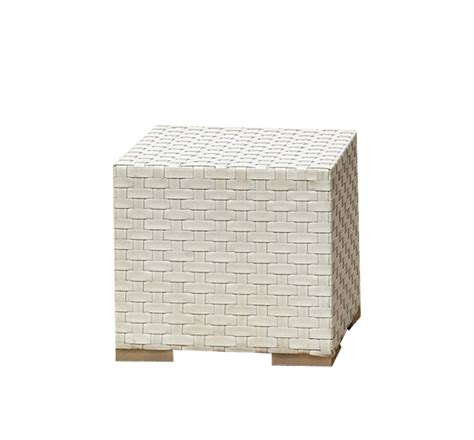 white outdoor side table wicker white furniture outdoor cube side table hire wa