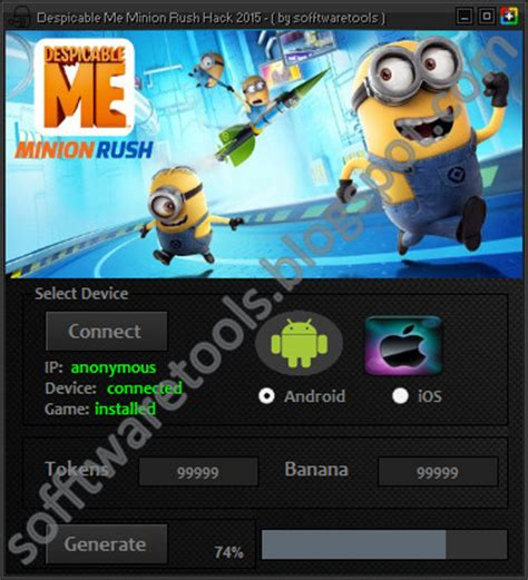 minion hack apk despicable me minion hack tool android apk 2015 unlimited tokens banana no survey no