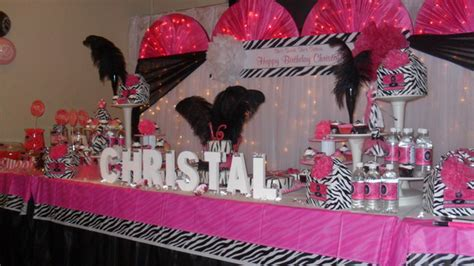 sweet 16 pink decorations sweet 16 decorations ideas on pink sweet 16 table decorations photograph hot pink and ze