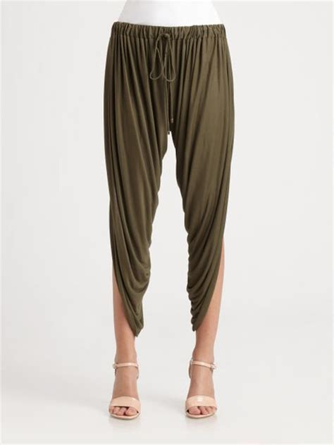 Draped Harem haute hippie draped modal harem in brown lyst